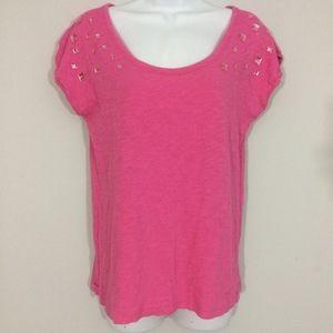 Pink Victorias Secret XS Embellished Scoop Neck